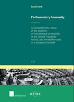Parliamentary Immunity (Ius Commune Europaeum, nr. 119)