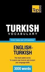 Turkish Vocabulary for English Speakers - 3000 Words af Andrey Taranov