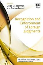 Recognition and Enforcement of Foreign Judgments (Private International Law Series, nr. 6)