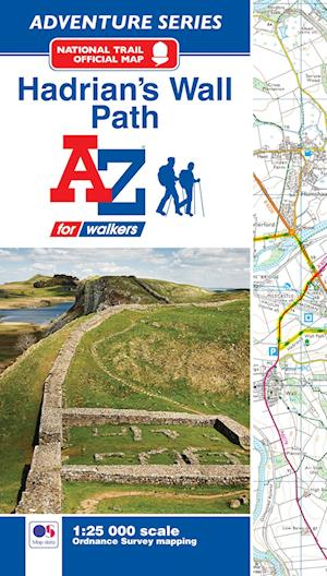 Bog, paperback Hadrian's Wall Path Adventure Atlas
