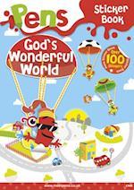 Pens Sticker Book: God's Wonderful World af Cwr