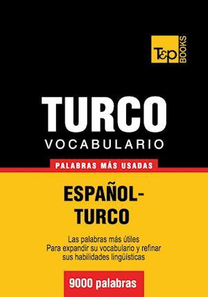 Vocabulario español-turco - 9000 palabras más usadas