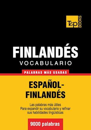 Vocabulario Espanol-Finlandes: 9000 Palabras Mas Usadas