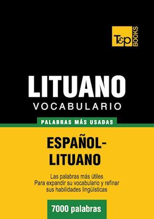 Vocabulario español-lituano - 7000 palabras más usadas