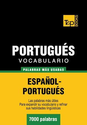 Vocabulario español-portugués - 7000 palabras más usadas