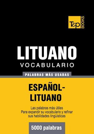 Vocabulario español-lituano - 5000 palabras más usadas