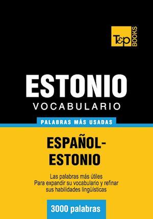 Vocabulario español-estonio - 3000 palabras más usadas