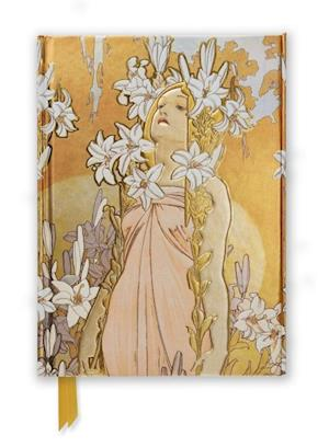 Mucha: The Flowers, Lily (Foiled Journal)