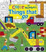 Color by Numbers Things That Go