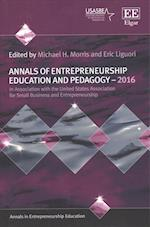 Annals of Entrepreneurship Education and Pedagogy - 2016 (Annals in Entrepreneurship Education Series)