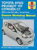 Toyota Aygo, Peugeot 107 & Citroen C1 Petrol Owners Workshop Manual af Peter T. Gill