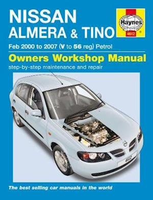 Bog, paperback Nissan Almera & Tino Service and Repair Manual af Anon