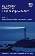 Handbook of Methods in Leadership Research (Handbooks of Research Methods in Management Series)