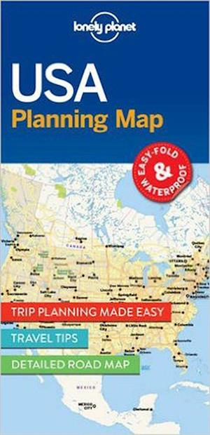 Lonely Planet Planning Map: USA (1st ed. June 17)
