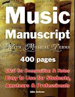 Music Manuscript with Musical Terms