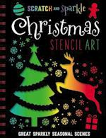 Scratch and Sparkle Christmas Stencil Art