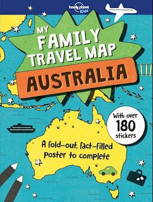 Bog, paperback My Family Travel Map Australia af Lonely Planet Kids