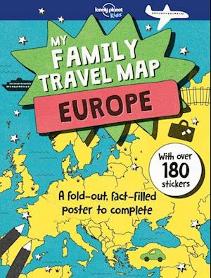 Bog, falset My Family Travel Map Europe, Lonely Planet (1st ed. Apr. 2018)