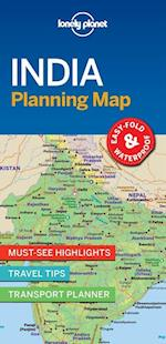 Lonely Planet India Planning Map (Travel Guide)