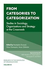 Categories, Categorization and Categorizing (RESEARCH IN THE SOCIOLOGY OF ORGANIZATIONS, nr. 51)