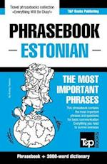 English-Estonian Phrasebook & 3000-Word Topical Vocabulary af Andrey Taranov