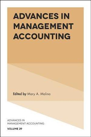 Bog, hardback Advances in Management Accounting