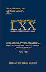VIII Congress of the International Organization for Septuagint and Cognate Studies