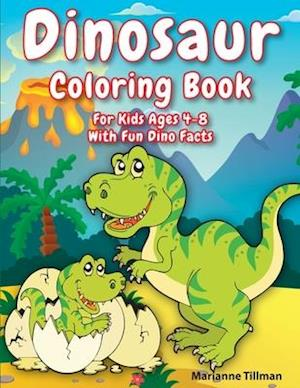 Dinosaur Coloring Book For Kids Ages 4-8 With Fun Dino Facts