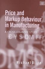 Price and Markup Behaviour in Manufacturing af M. Olive