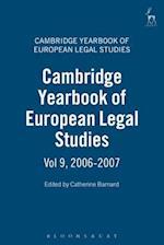 Cambridge Yearbook of European Legal Studies (Cambridge Yearbook Of European Legal Studies, nr. 9)