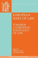 European Ways of Law af Volkmar Gessner