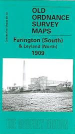Farington (South) and Leyland (North) 1909 (Old O.S. Maps of Lancashire)