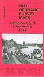 Hampton Court and East Molesey 1912 (Old Ordnance Survey Maps of Surrey)