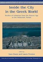 Inside the City in the Greek World (University of Cambridge Museum of Classical Archaeology Monograph, nr. 1)
