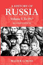 A History of Russia Volume 1 (Anthem Series on Russian, East European and Eurasian Studies)