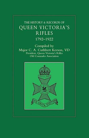 Bog, hæftet HISTORY & RECORDS OF QUEEN VICTORIA'S RIFLES 1792-1922 Volume Two