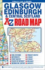 Central Scotland Road Map (A-Z Road Map)