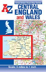Central England & Wales Road Map (A-Z Road Map)