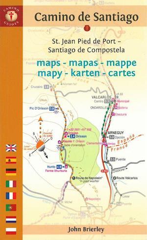 Camino de santiago maps mapas mappe mapy karten - St jean pied de port to santiago distance ...