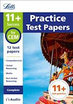 11+ Practice Test Papers for the CEM Tests (Complete) Inc. Audio Download (Letts 11+ Success)