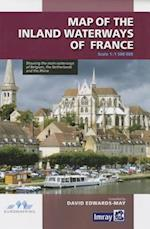 Map Inland Waterways of France