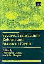Secured Transactions Reform and Access to Credit (Elgar Financial Law Series)
