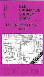 Hull (Queen's Dock) 1853 (Old Ordnance Survey Maps - Yard to the Mile)