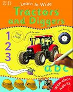 Learn To Write With Tractors and Diggers af Belinda Gallagher