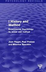 Experimental Psychology Its Scope and Method: Volume I (Psychology Revivals) (Psychology Revivals)