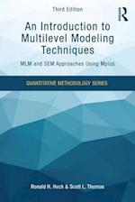 An Introduction to Multilevel Modeling Techniques (Quantitative Methodology Series)