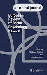 European Review of Social Psychology: Volume 21