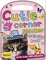 Cutie Corner Sticker Activity Book (Carry Me)