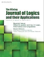 Ifcolog Journal of Logics and their Applications. Hilbert's epsilon and tau in Logic, Informatics and Linguistics: Volume 4, Number 2, March 2017