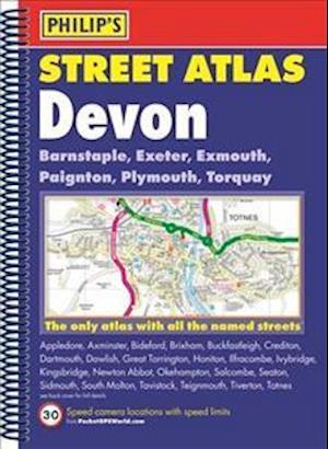 Bog, spiralryg Philip's Street Atlas Devon